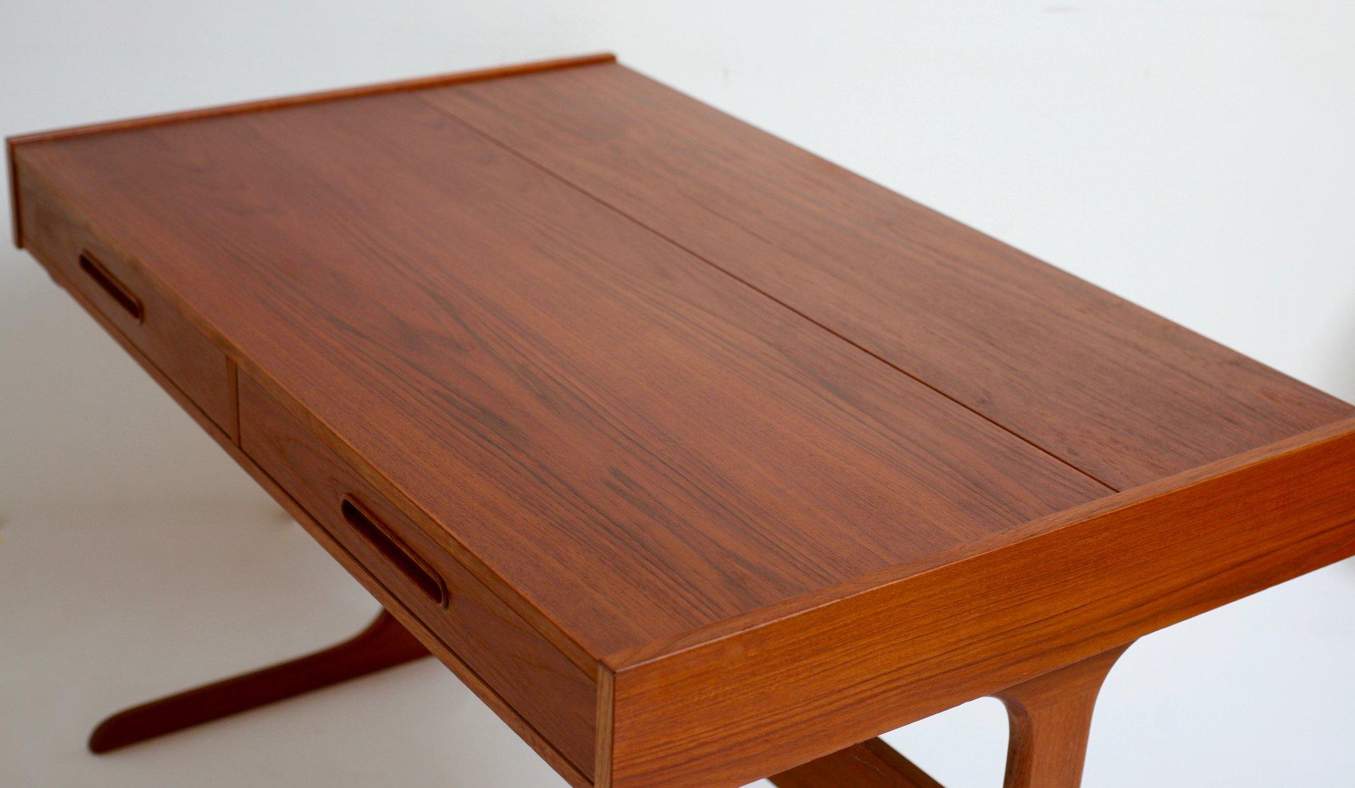 mid century teak schreibtisch von dyhrlund smith bei pamono kaufen. Black Bedroom Furniture Sets. Home Design Ideas