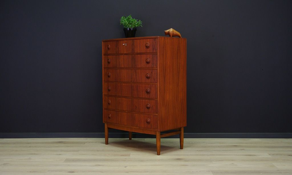 d nische vintage teak kommode von kai kristiansen bei pamono kaufen. Black Bedroom Furniture Sets. Home Design Ideas