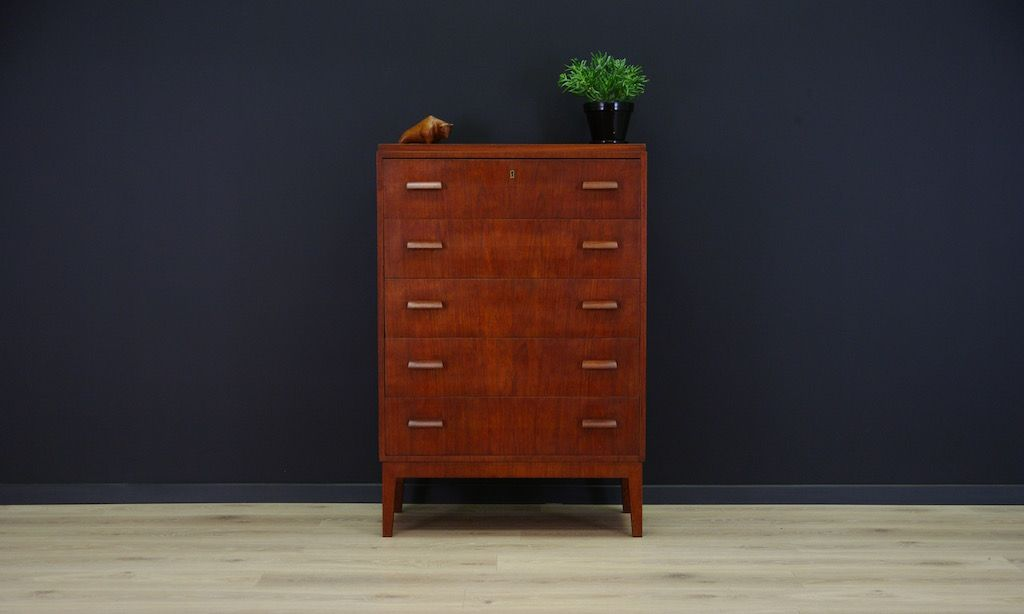 d nische mid century teak kommode bei pamono kaufen. Black Bedroom Furniture Sets. Home Design Ideas
