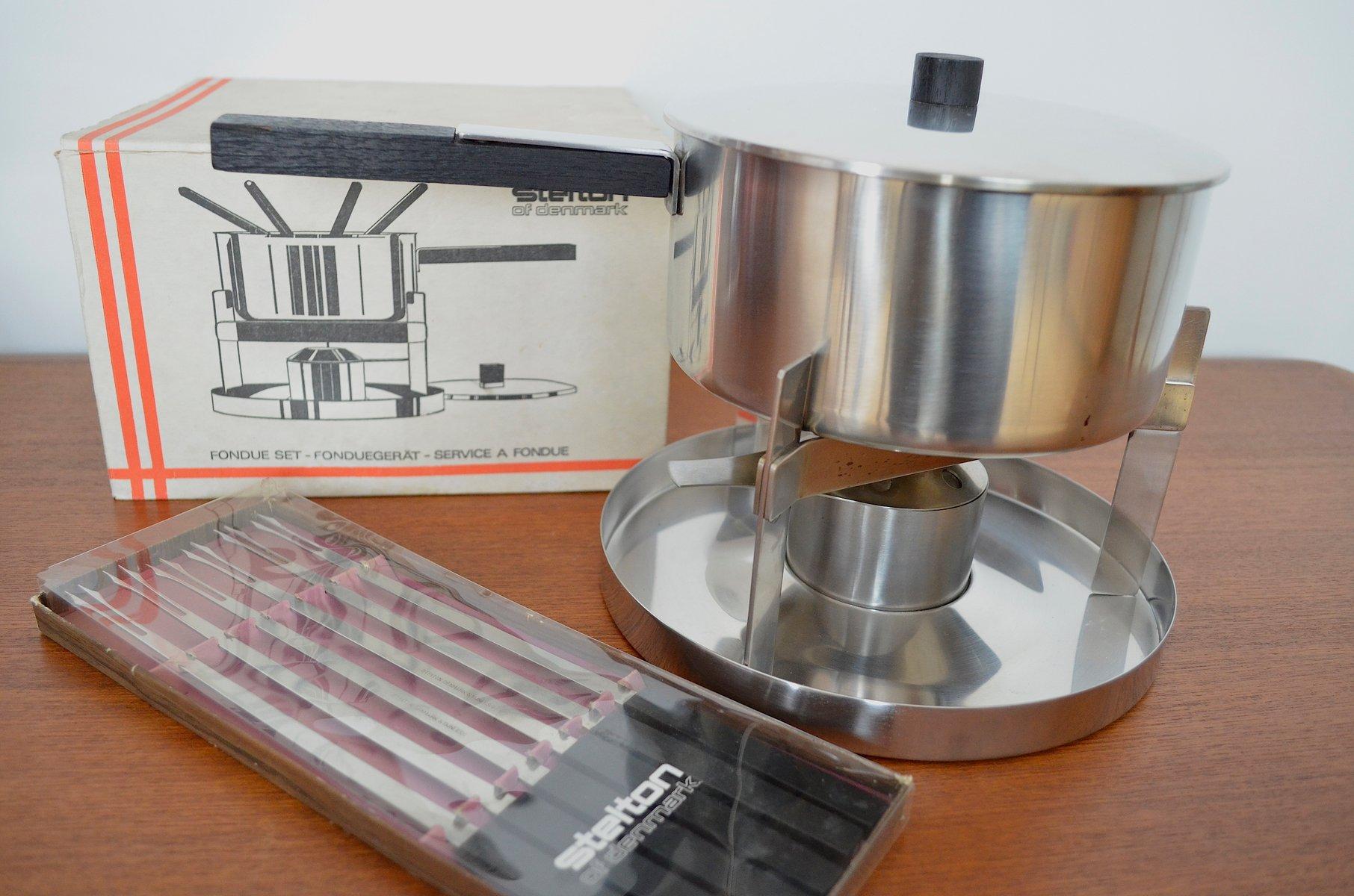 d nisches mid century fondue set von peter holmblad f r stelton bei pamono kaufen. Black Bedroom Furniture Sets. Home Design Ideas