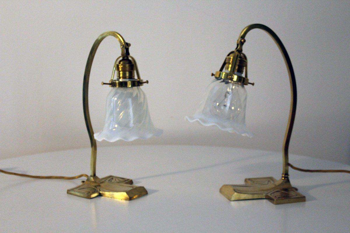 Wiener Jugendstil Tischlampe, 1900er