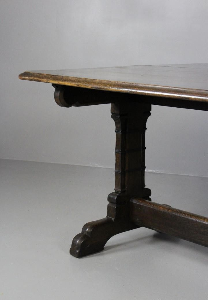 Victorian Gothic Style Oak Dining Table For Sale At Pamono