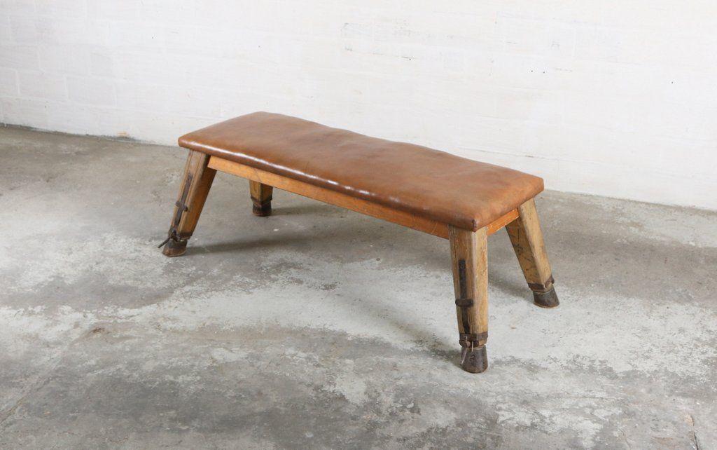 Industrielle Vintage Leder Sitzbank