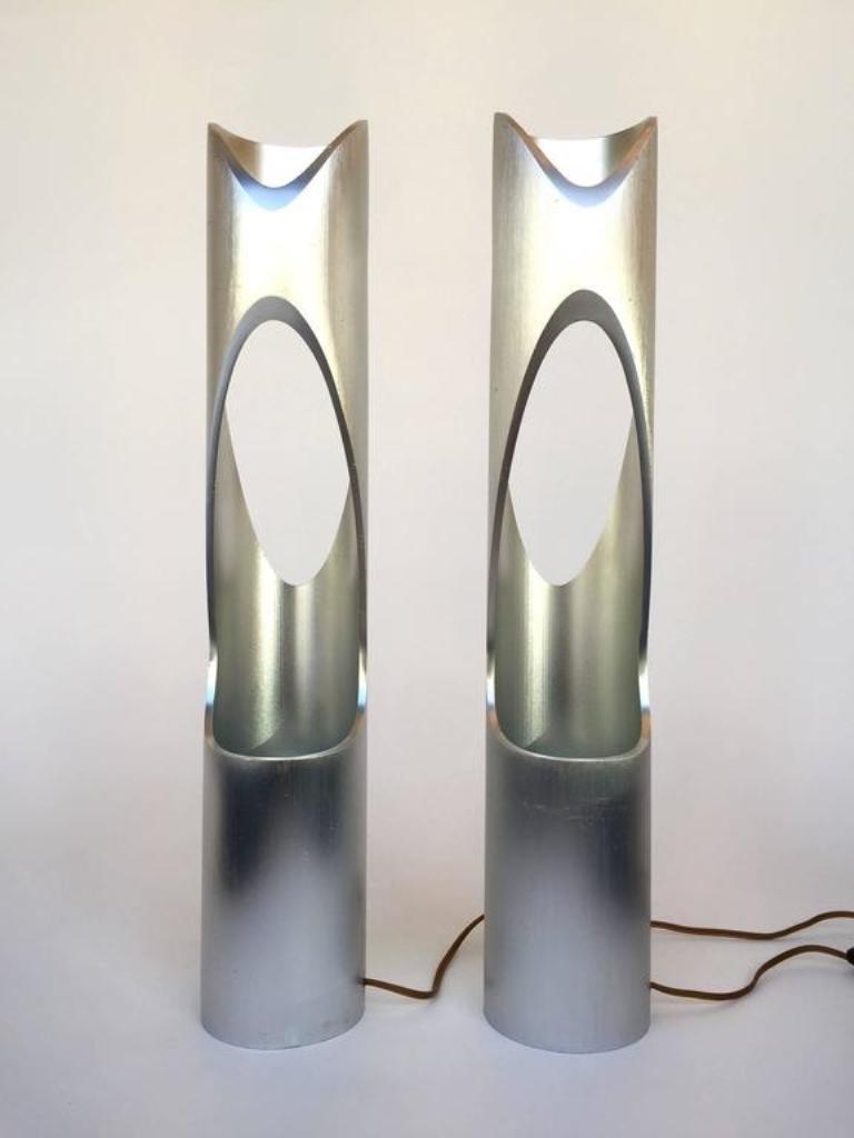 Skulpturelle vintage lampen 1970er 2er set bei pamono kaufen for Vintage lampen