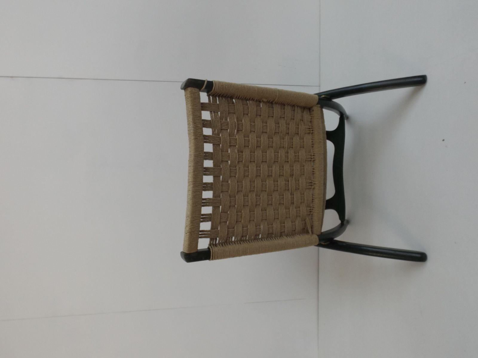 Sedia pieghevole vintage in corda di ebert wels in vendita su pamono