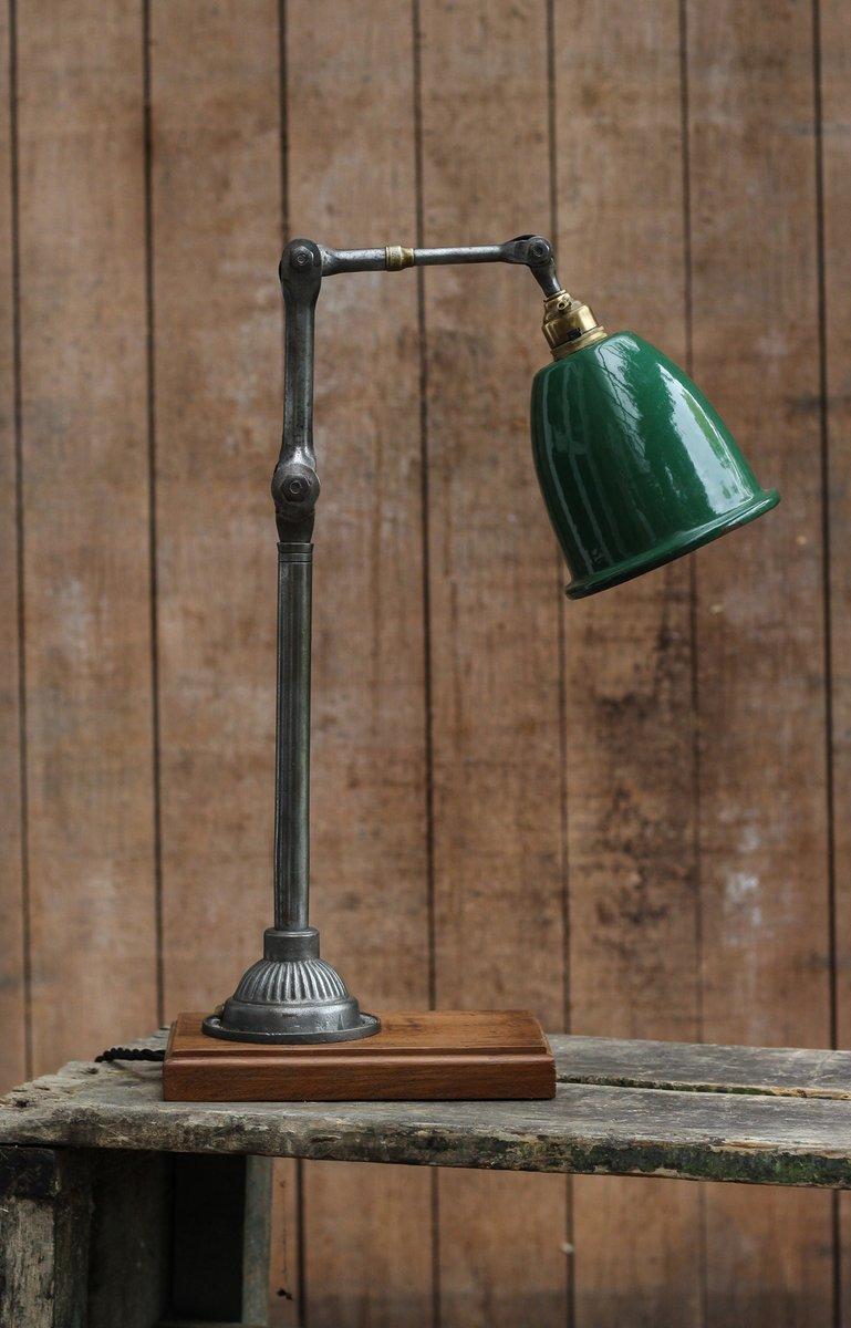 Kleine Mechaniker Schreibtischlampe von Dugdills, 1920er