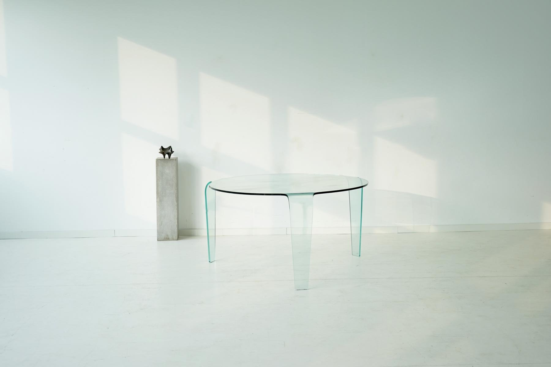 Table en verre vintage de roche bobois en vente sur pamono - Roche bobois table en verre ...