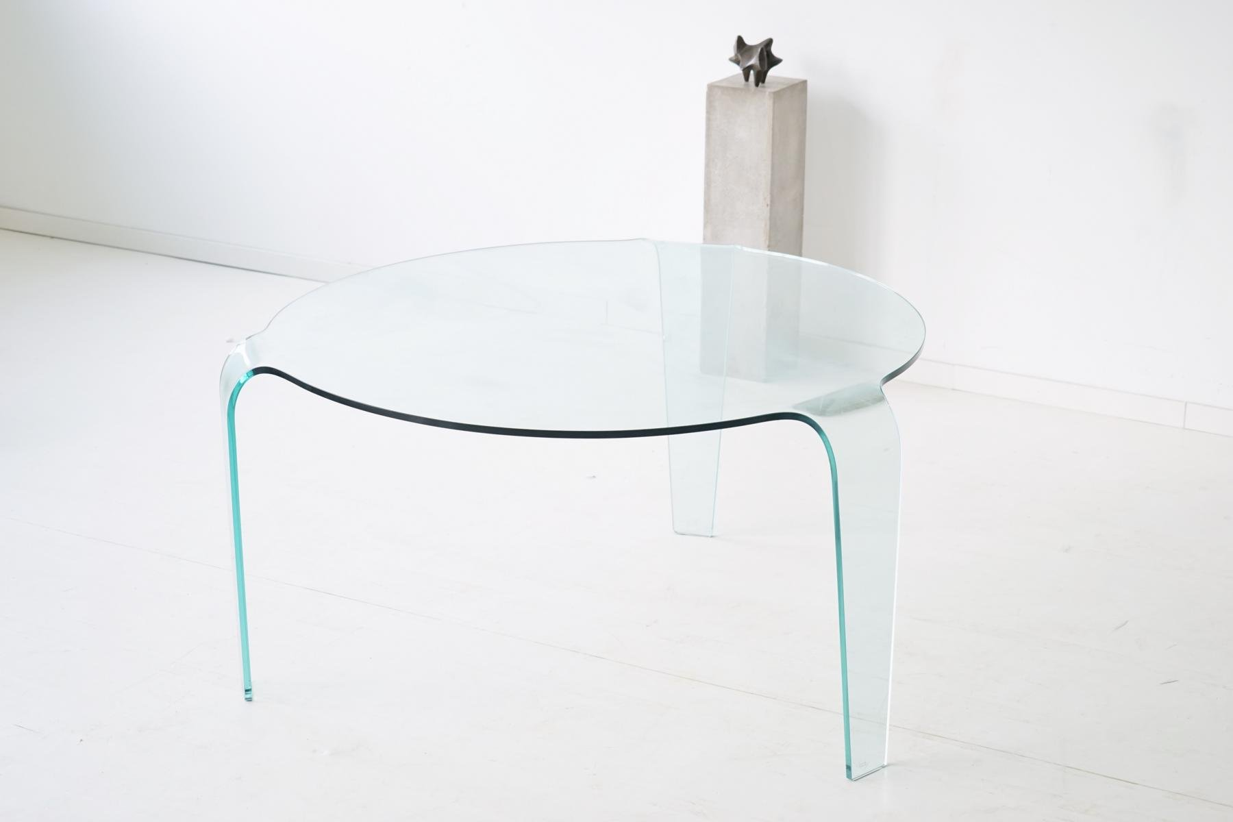 vintage glass table from roche bobois