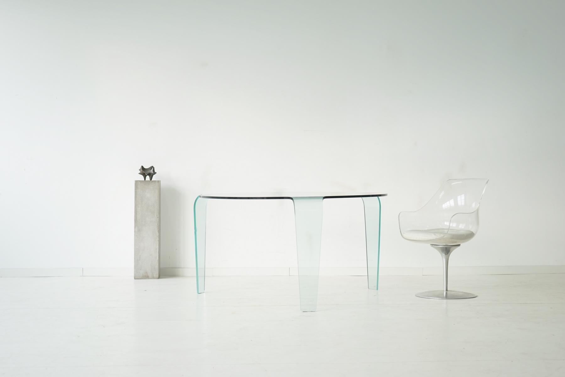 table en verre vintage de roche bobois en vente sur pamono. Black Bedroom Furniture Sets. Home Design Ideas