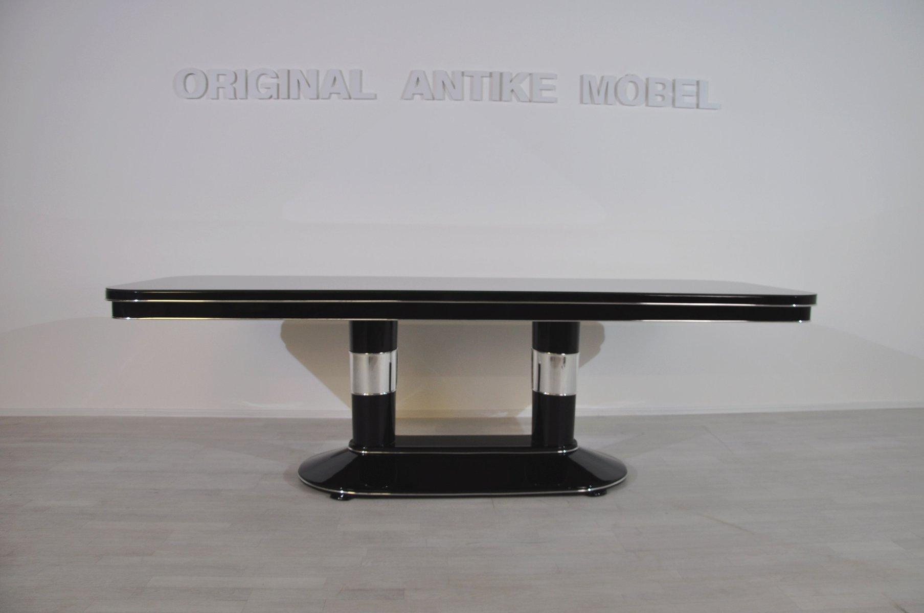 Art Deco Esstisch mit Chrom