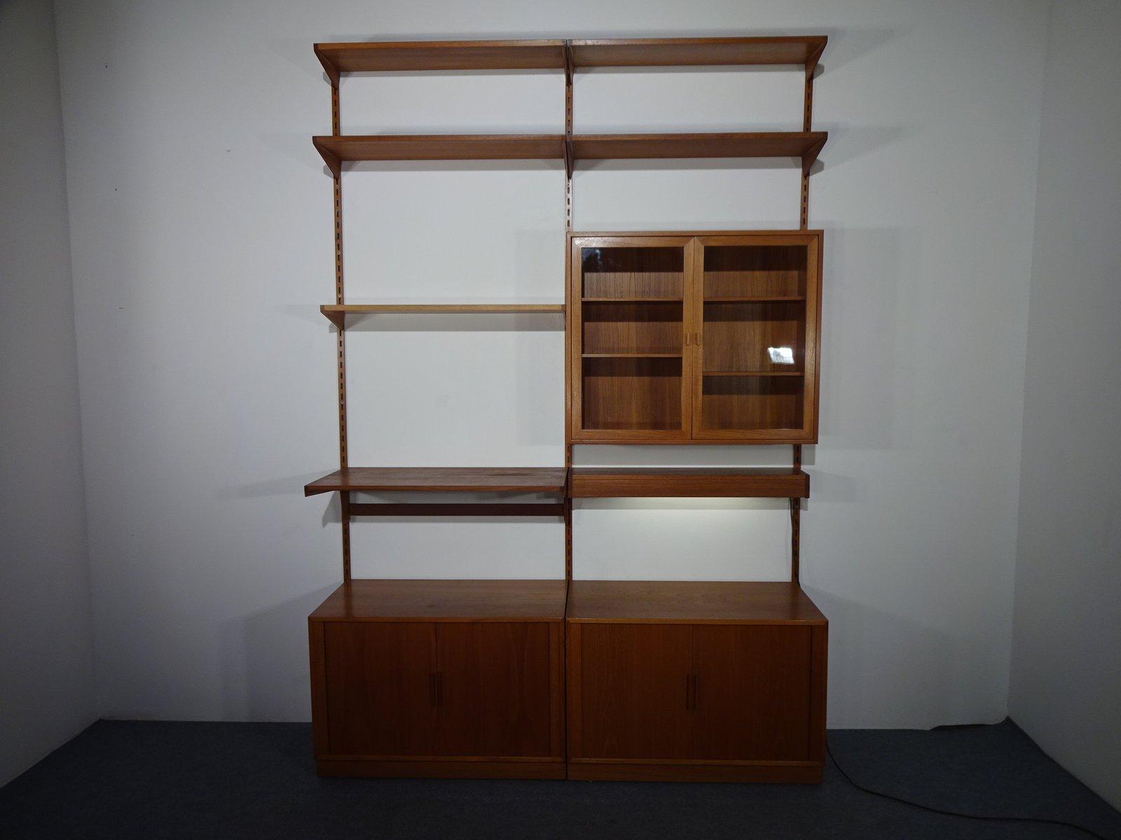 Libreria con vetrina e due scomparti in teak di Kai Kristiansen per ...