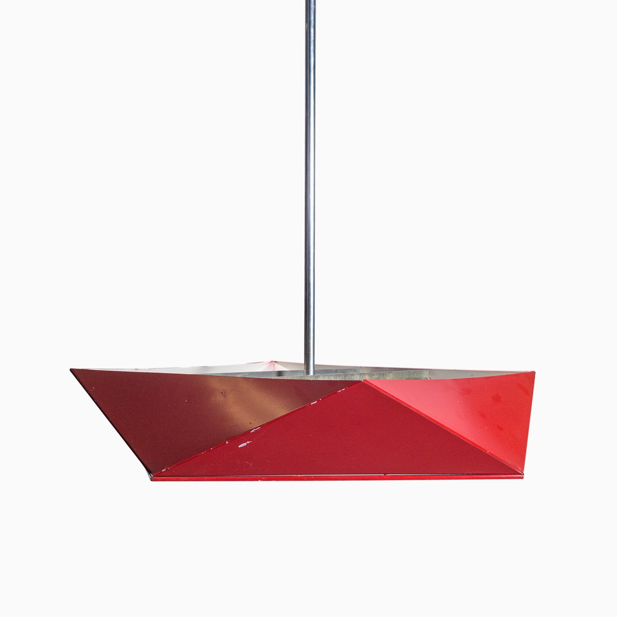 suspension vintage en m tal rouge de napako en vente sur pamono. Black Bedroom Furniture Sets. Home Design Ideas