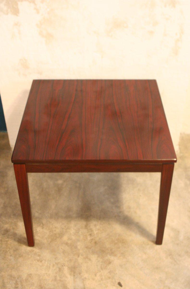 table d 39 appoint mid century carr e en palissandre en vente sur pamono. Black Bedroom Furniture Sets. Home Design Ideas