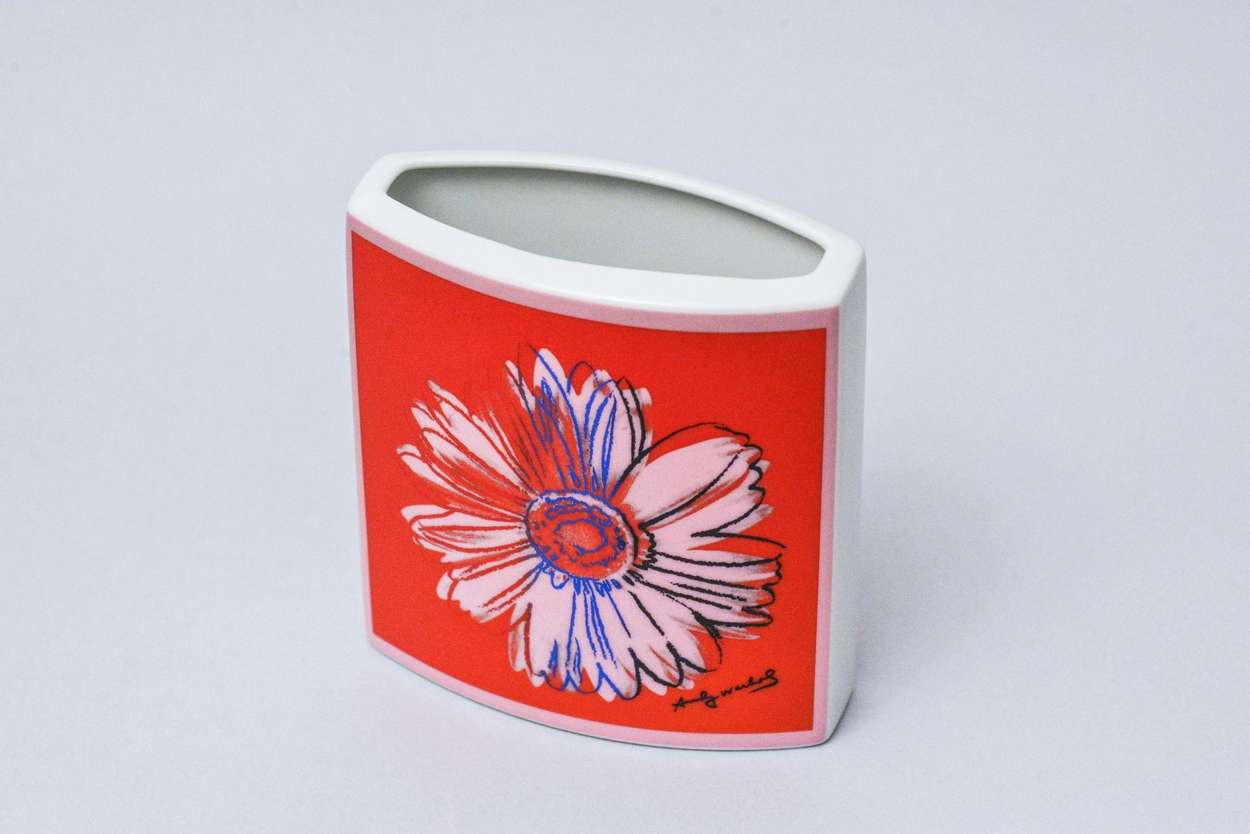 Vintage Daisy Vase By Andy Warhol For Rosenthal Studio Line For Sale