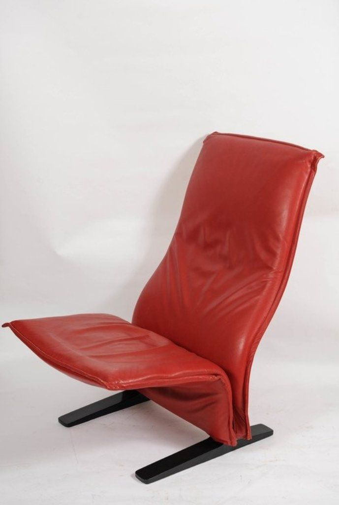 chaise concorde vintage par pierre paulin pour artifort en vente sur pamono. Black Bedroom Furniture Sets. Home Design Ideas