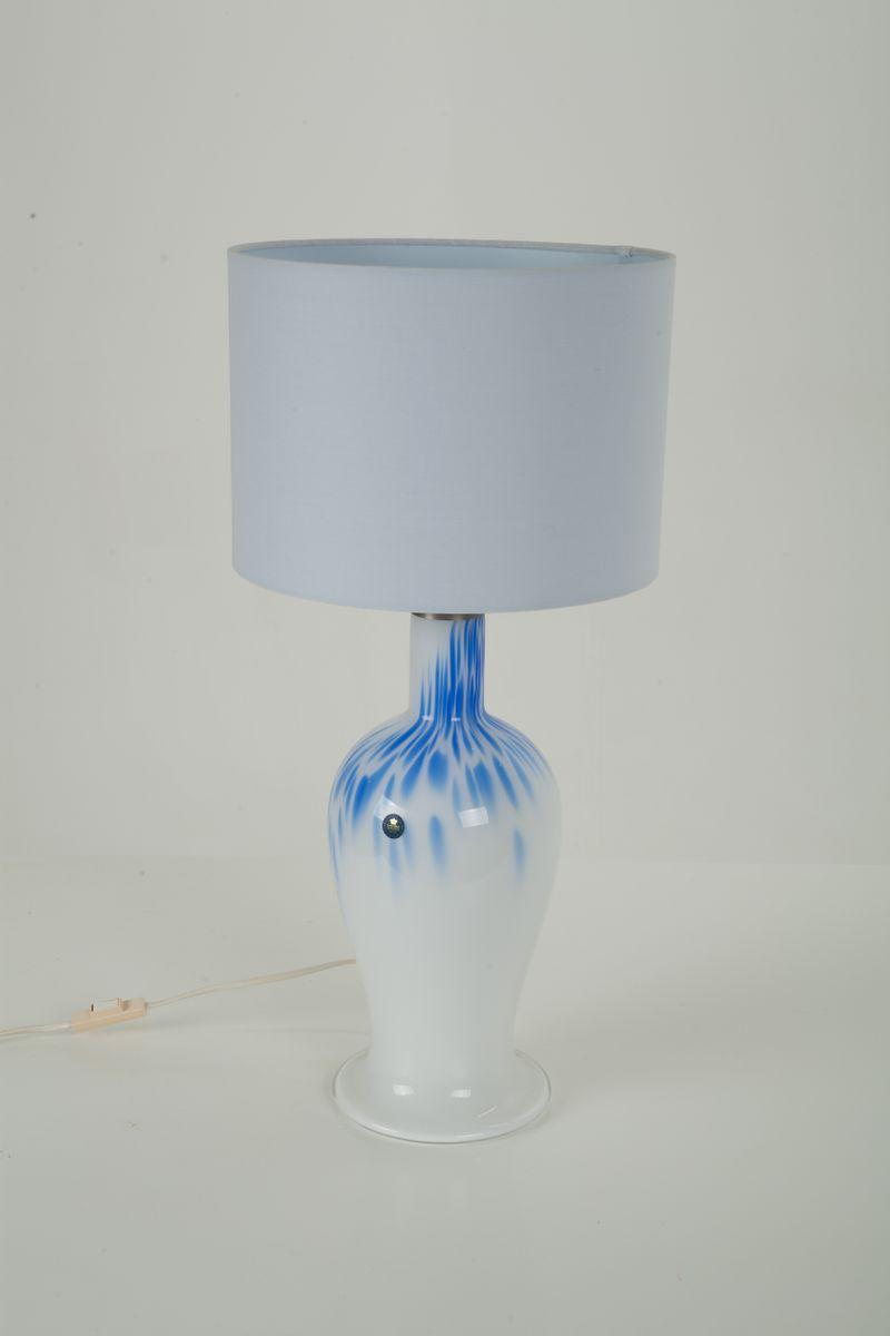 Große Torino Glas Tischlampe von Michael Bang für Holmegaard, 1990