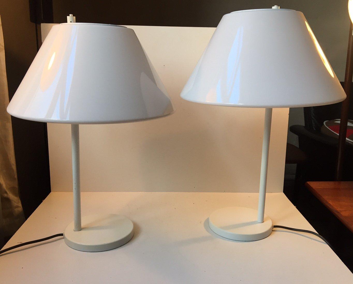 Weiße Minimalistische Dänische Combi Tischlampen von Per Iversen für L...