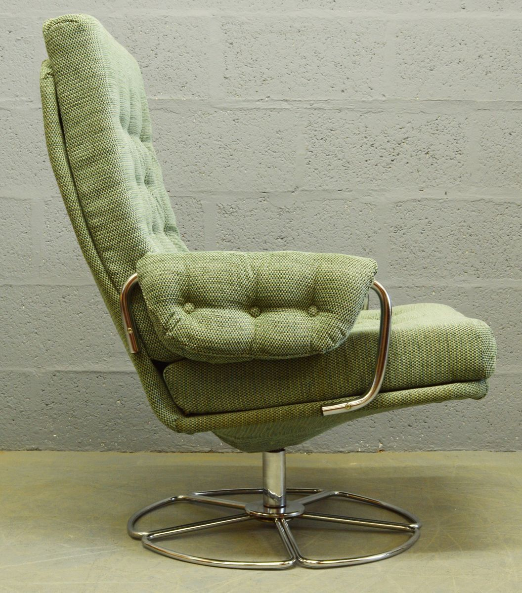 Mid Century Chrome And Fabric Swivel Chair, 1960s 6. $1,206.00. Price Per  Piece