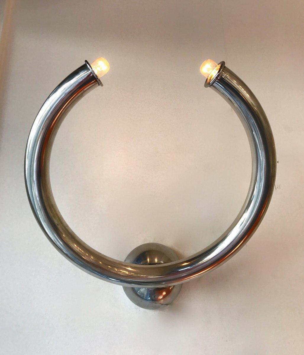 Ringförmige Italienische Wandleuchten von Reggiani, 1980er, 2er Set
