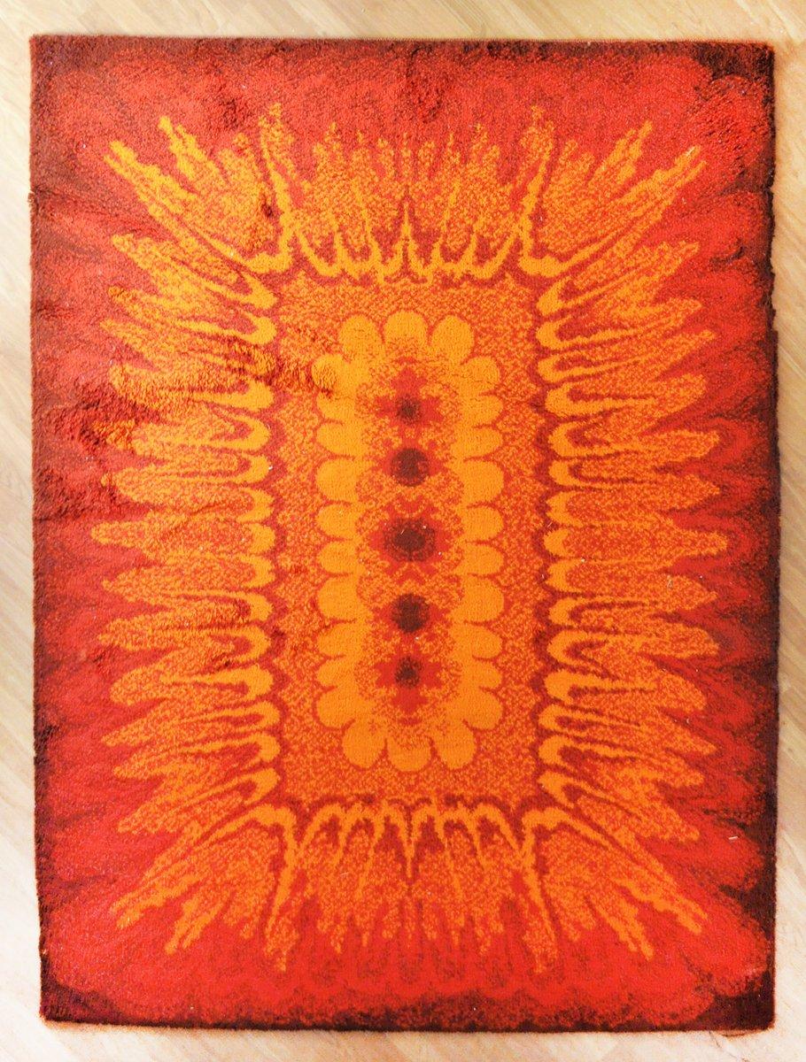 Orangenfarbener Modell Hippie Minarett Teppich,...