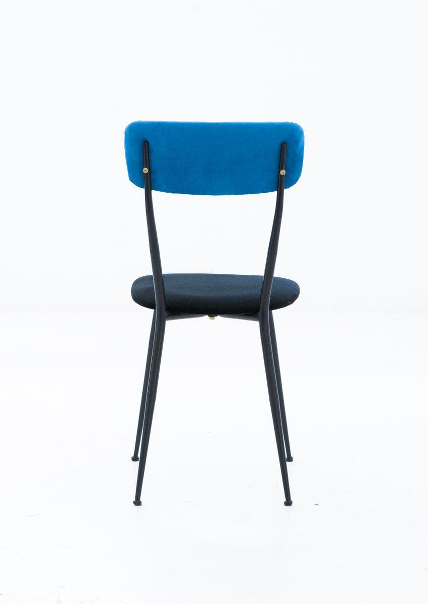 Sedie in ferro e velluto italia anni 39 50 set di 6 in for Sedie design velluto