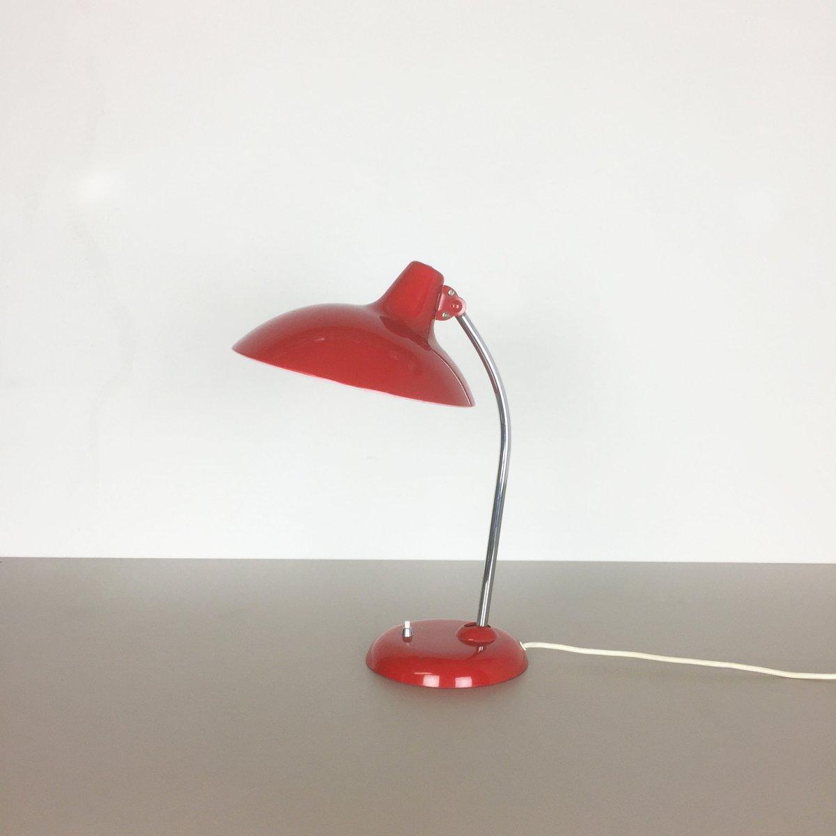 Deutsche Red 6786 Bauhaus Schreibtischlampe von Christian Dell für Kai...