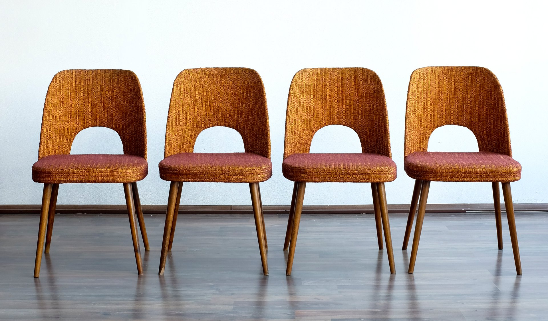 Vintage dining chairs by oswald haerdtl for thonet set of 4