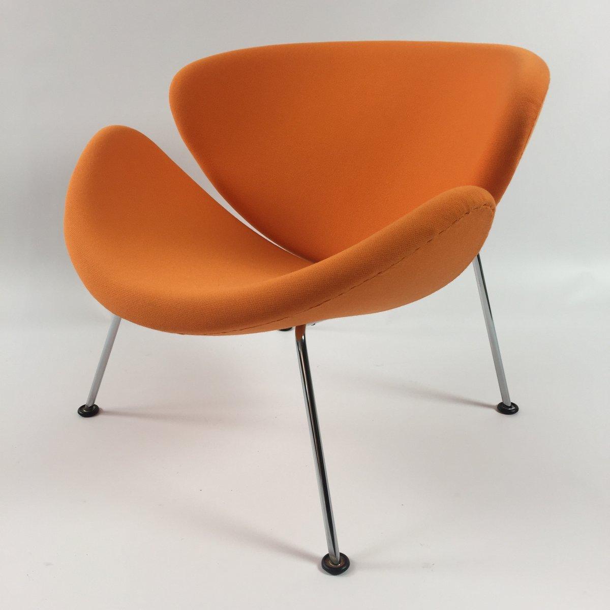 vintage orange slice lounge chair by pierre paulin for. Black Bedroom Furniture Sets. Home Design Ideas