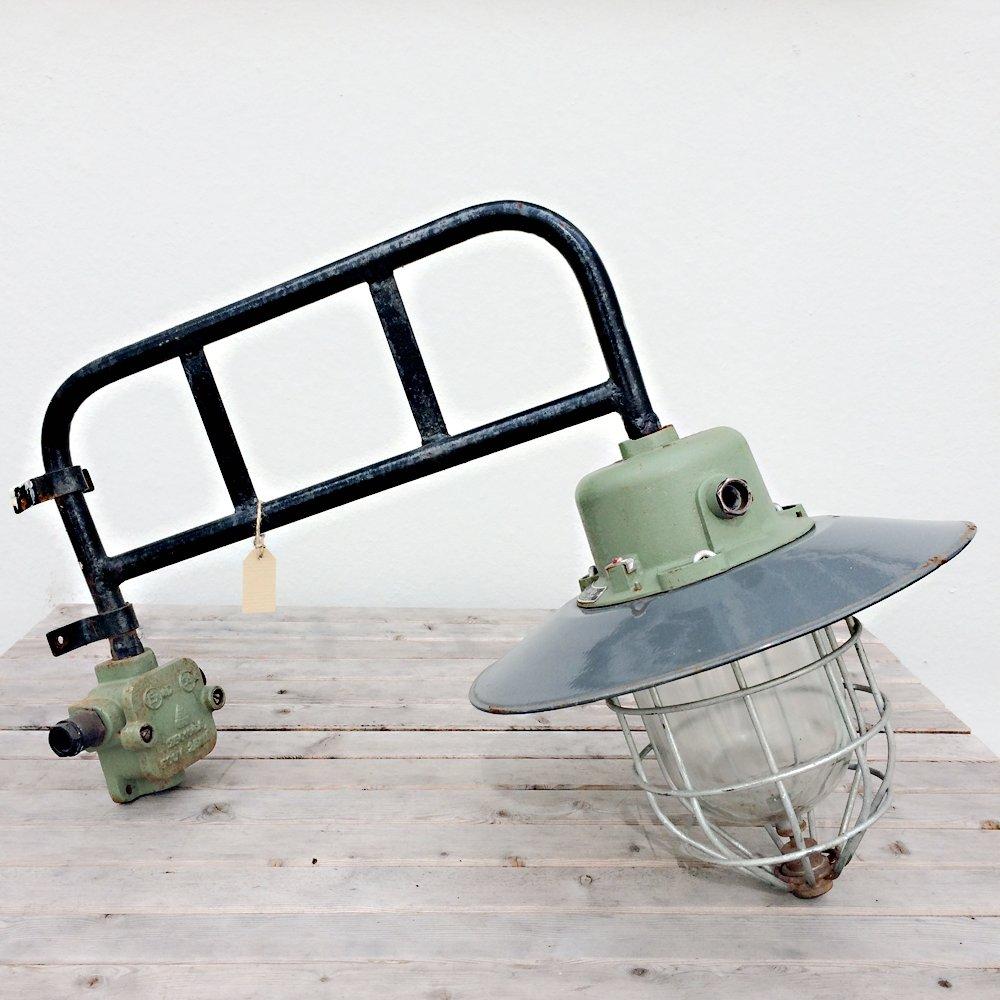 Deutsche Industrielle Vintage Wandlampe, 1940er