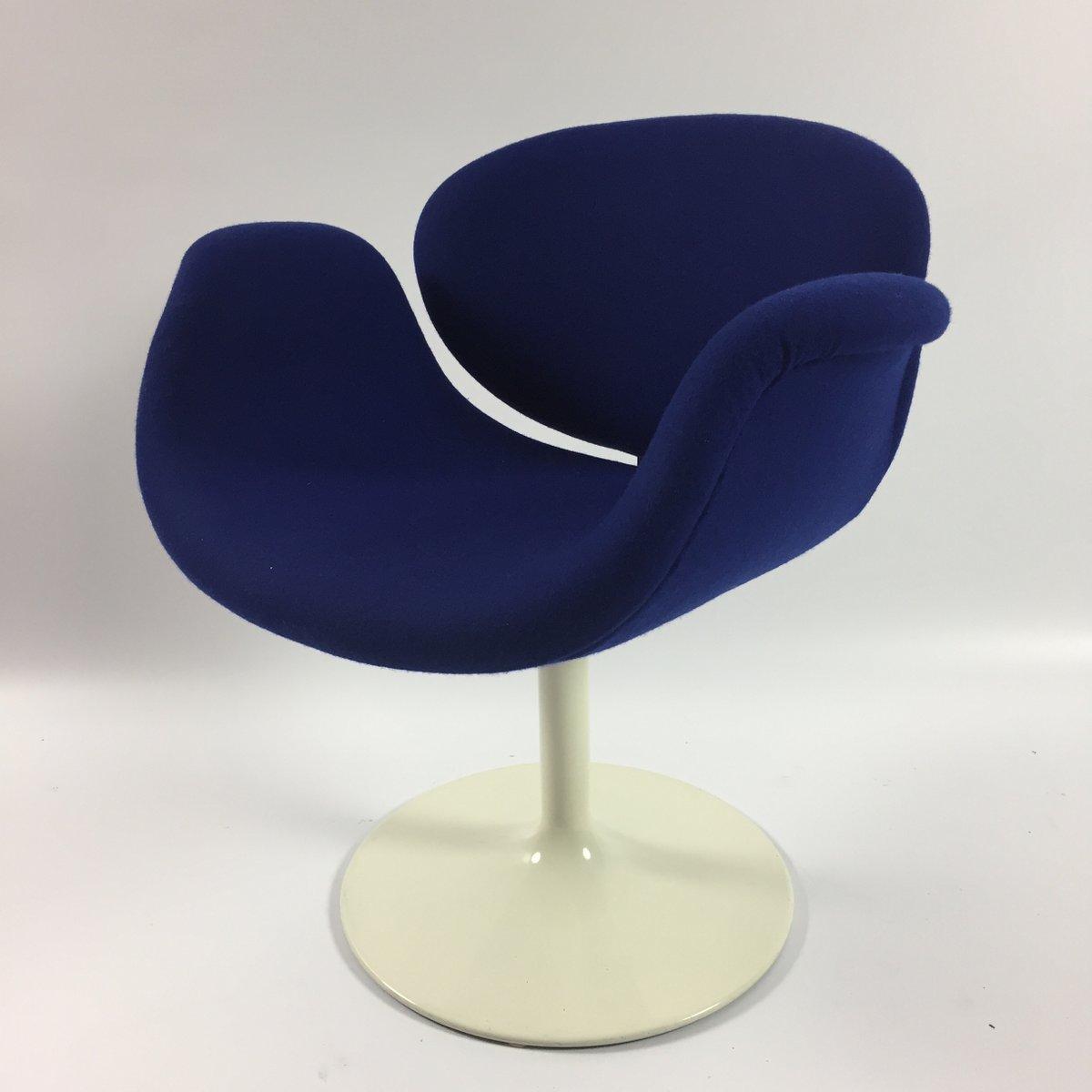 petit fauteuil tulipe bleu par pierre paulin pour artifort 1960s en vente sur pamono. Black Bedroom Furniture Sets. Home Design Ideas