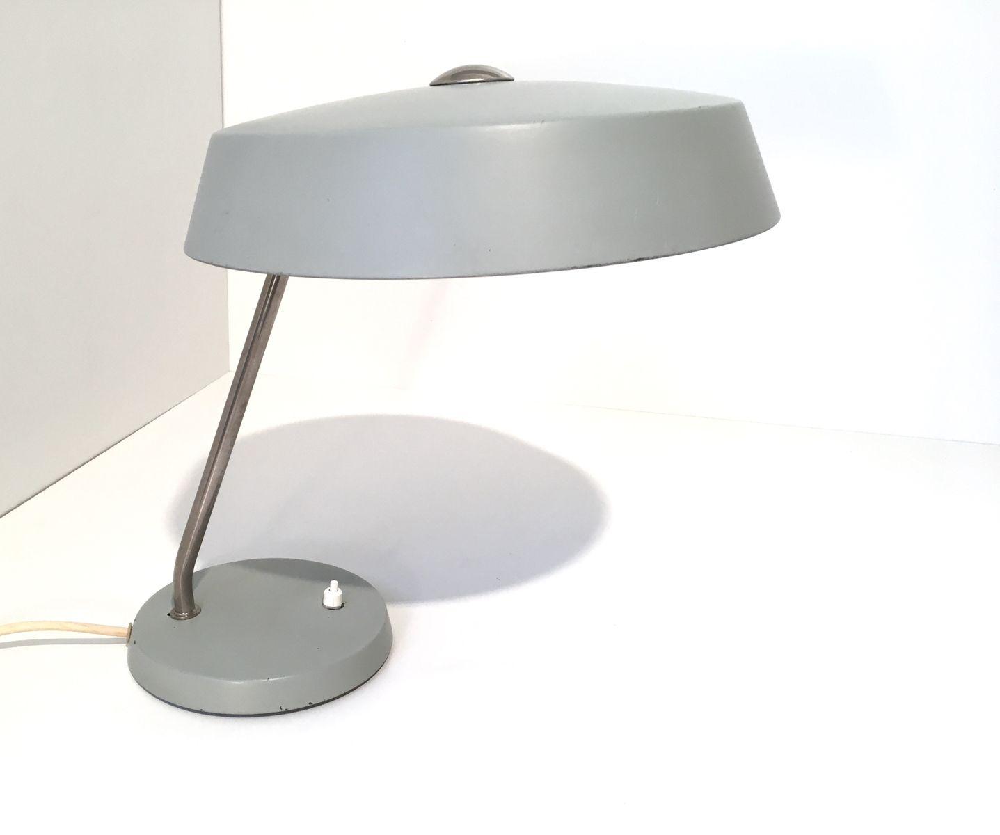 Graue Bauhaus Tischlampe, 1960er
