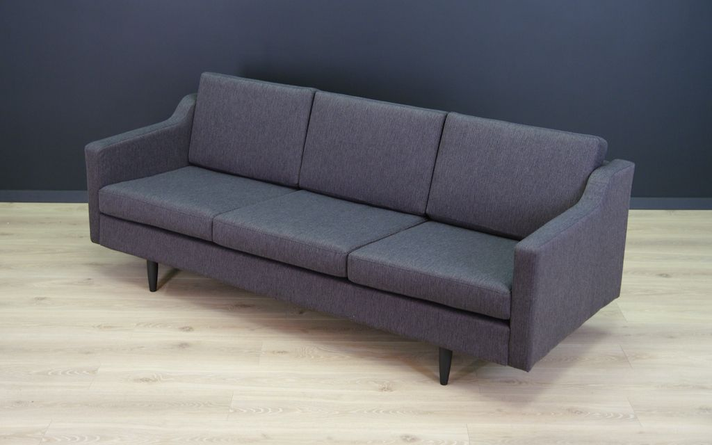 canap vintage gris fonc danemark en vente sur pamono. Black Bedroom Furniture Sets. Home Design Ideas