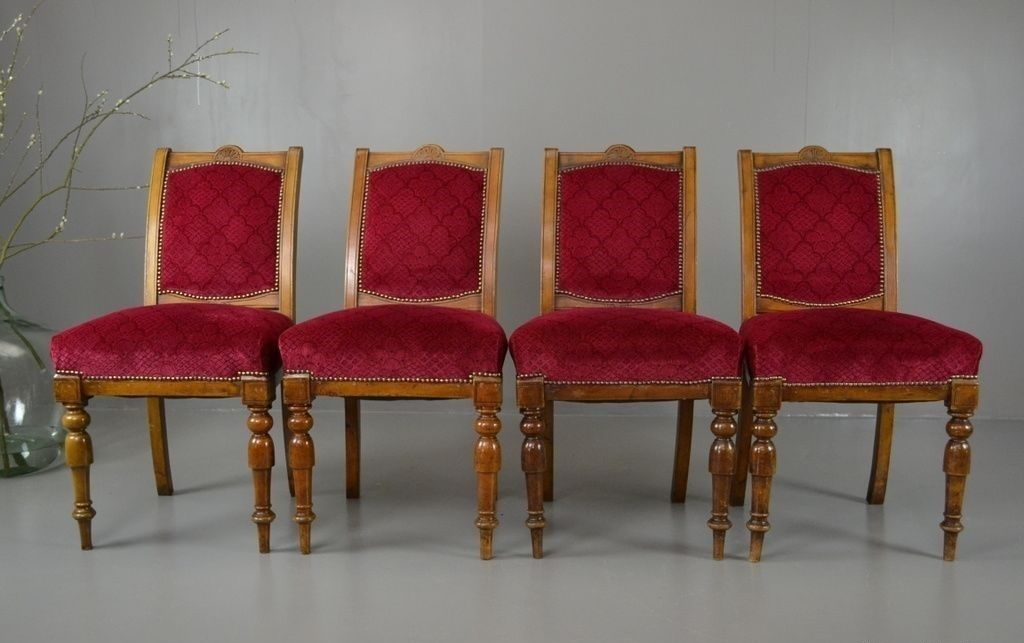Antique Victorian Dining Chairs, Set of 4 - Antique Victorian Dining Chairs, Set Of 4 For Sale At Pamono
