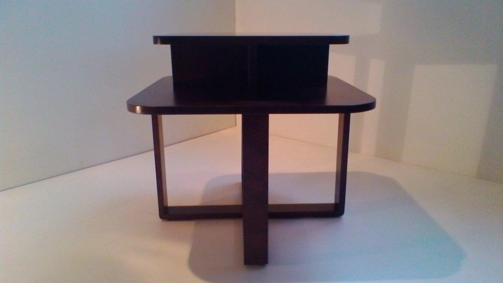 table basse art d co rectangulaire en bois courb en vente sur pamono. Black Bedroom Furniture Sets. Home Design Ideas