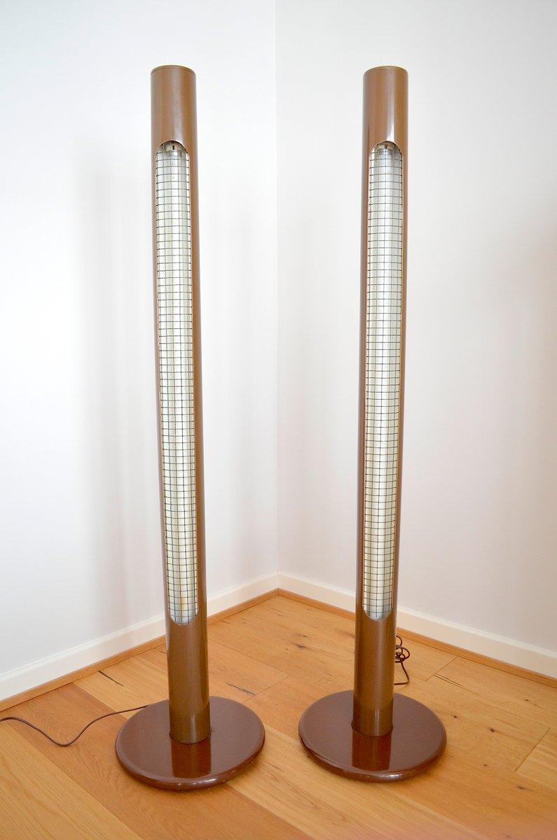 Pop Art Säulen Stehlampen, 1970er, 2er Set