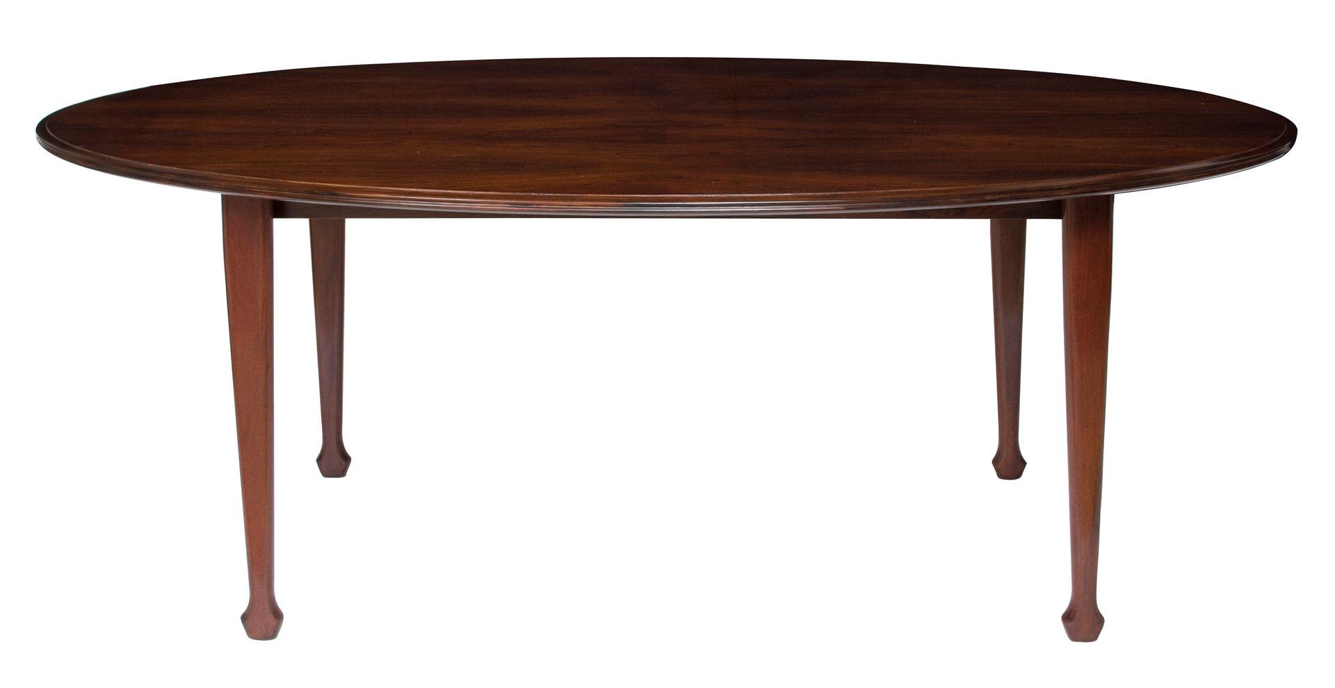 Ovaler Palisander Esstisch von Andrew J. Milne, 1960er