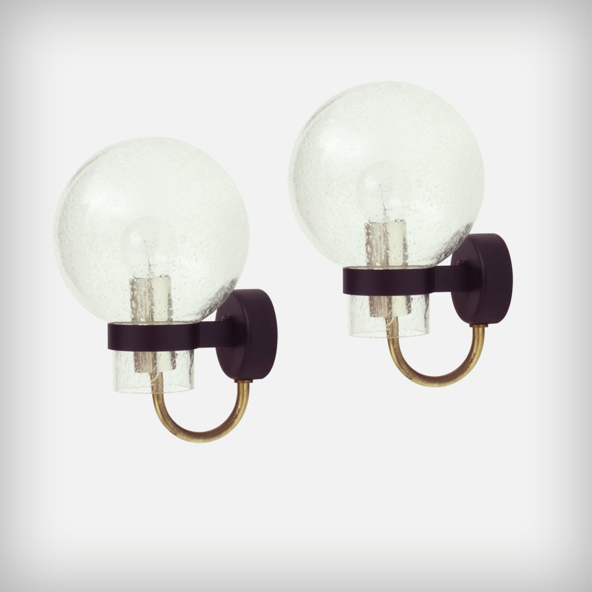 German glass brass wall lights from glashtte limburg 1960s set german glass brass wall lights from glashtte limburg 1960s set of 2 aloadofball Choice Image