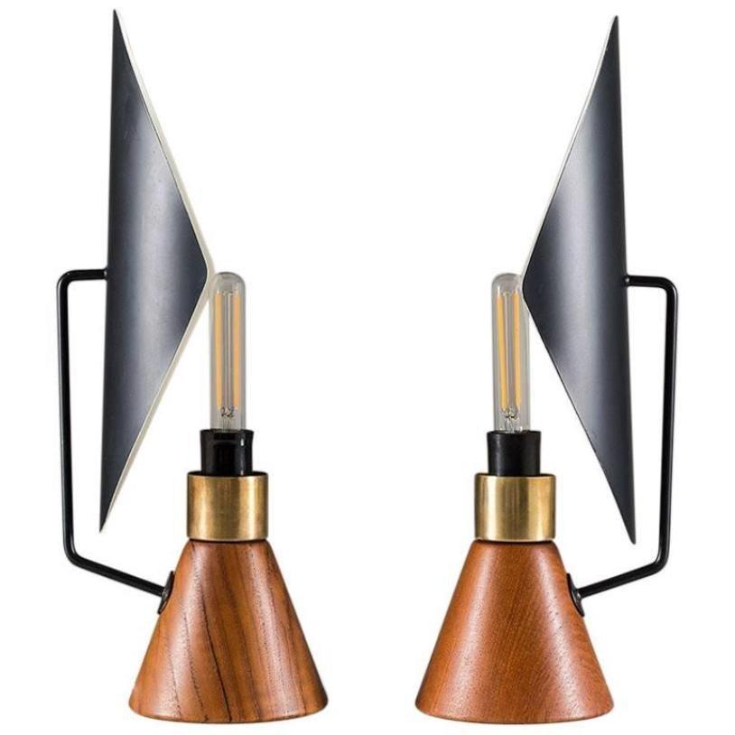 Tischlampen von Asea, 1950er, 2er Set