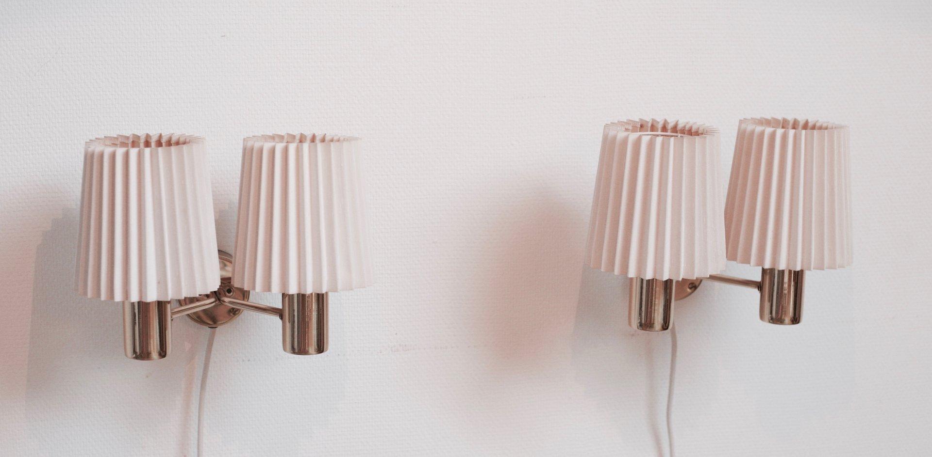 149/2 PL Sonett Wandlampen von Hans Agne Jakobsson, 2er Set