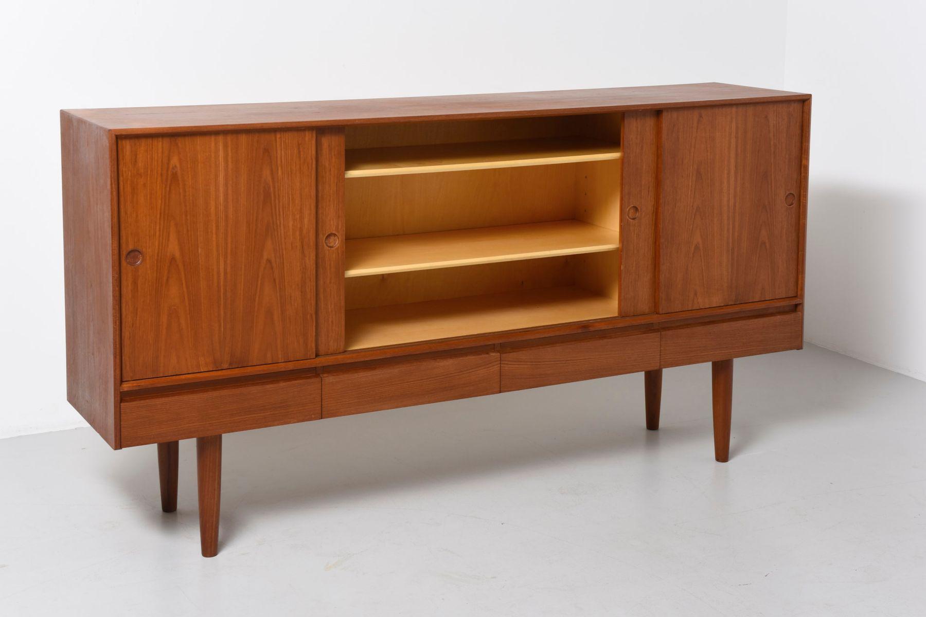 d nisches vintage teak sideboard bei pamono kaufen. Black Bedroom Furniture Sets. Home Design Ideas