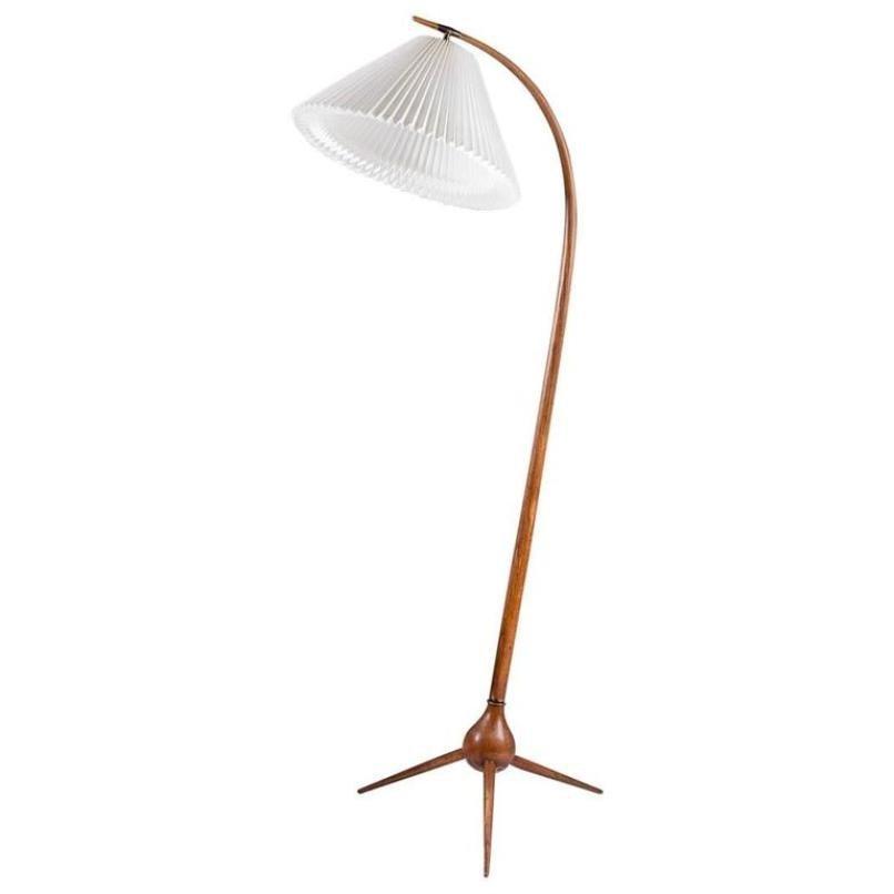 Dänische Mid-Century Stehlampe von Severin Hansen Jr. für Haslev Møbel...