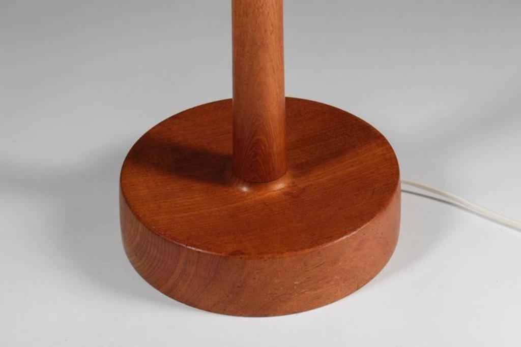 schwedische stehlampe mit schirm aus leder von uno sten. Black Bedroom Furniture Sets. Home Design Ideas