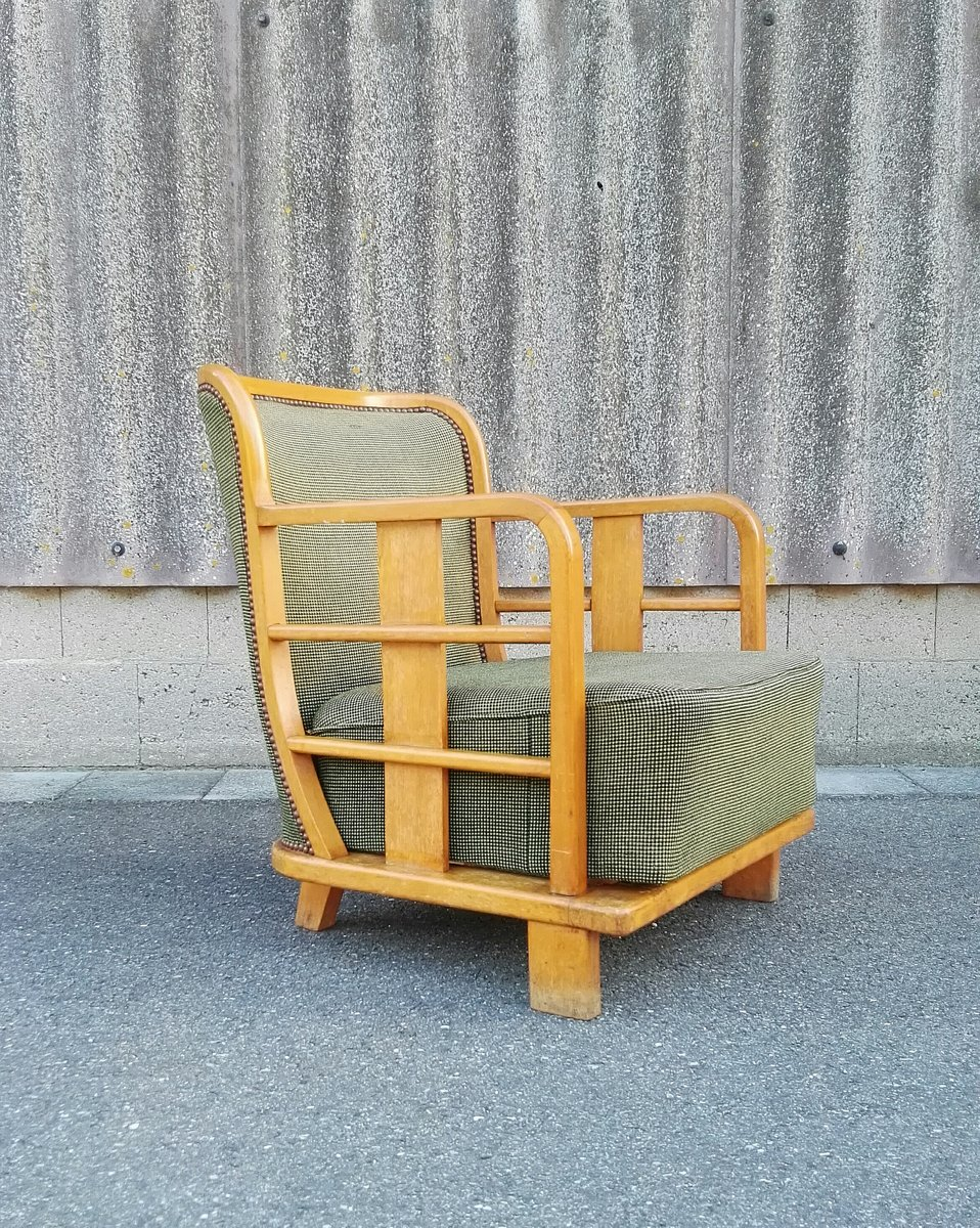 Niedriger Moderner Französischer Sessel, 1920er