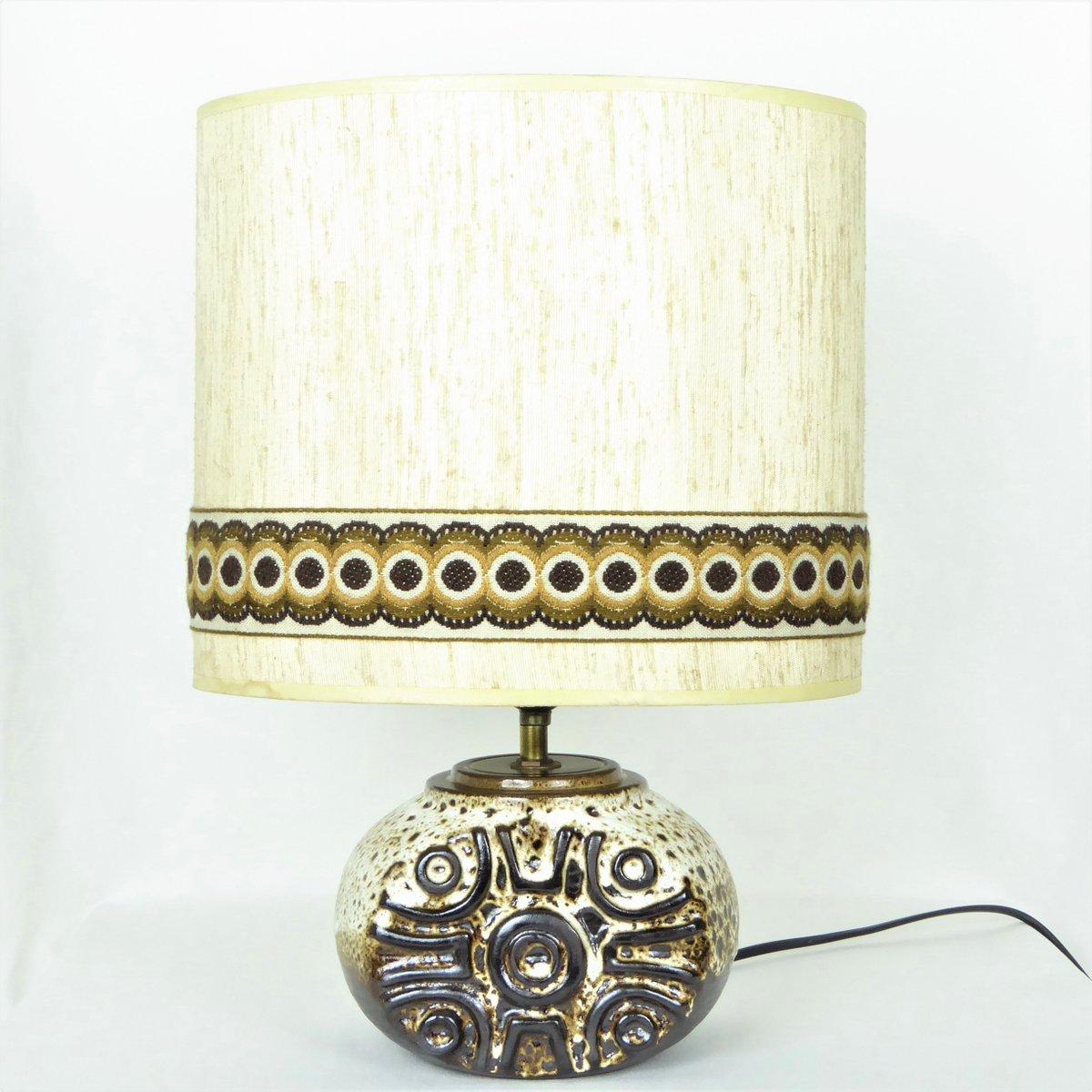 Lampe aus Keramik mit Sonnenmuster, 1970er