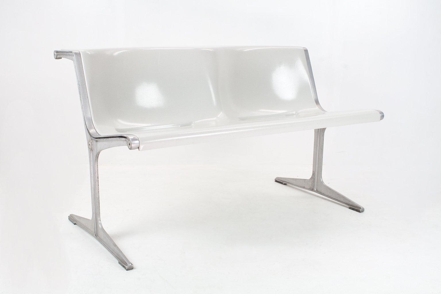 Deutsche Zwei-Sitzer Mid-Century 120/2 Sitzbank von Friso Kramer für W...