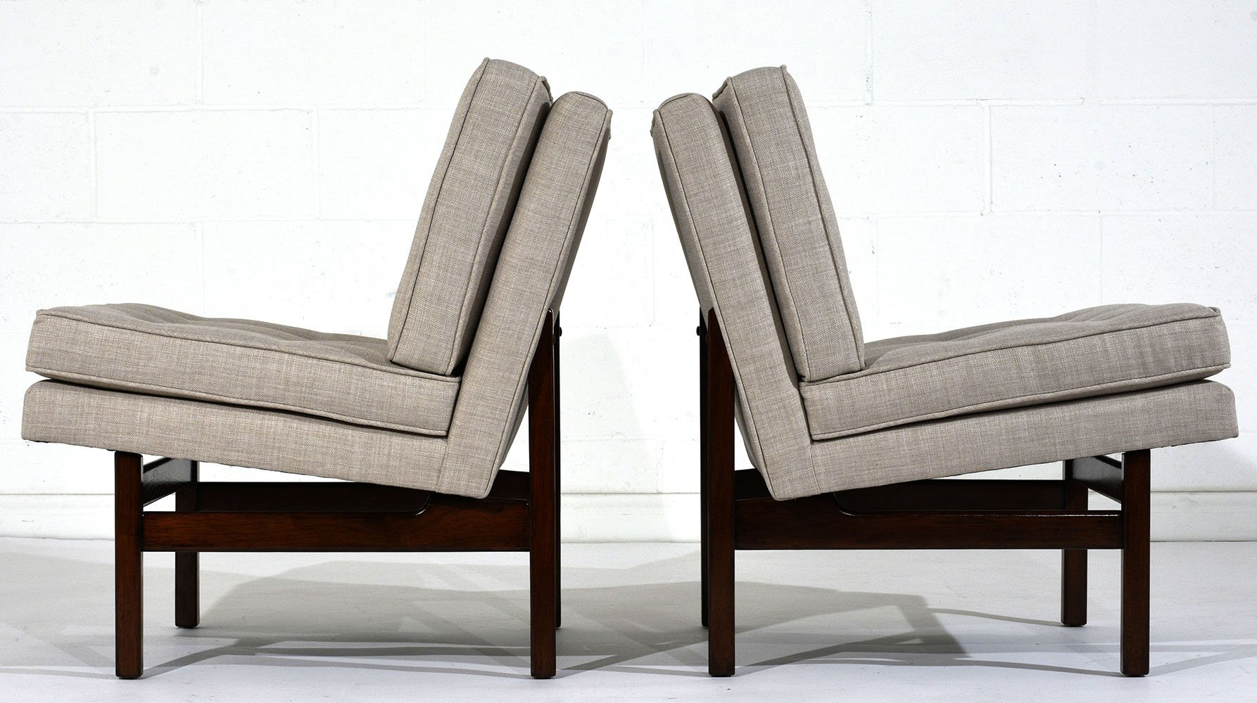 mid century slipper or lounge chairs set of 2 for sale at pamono