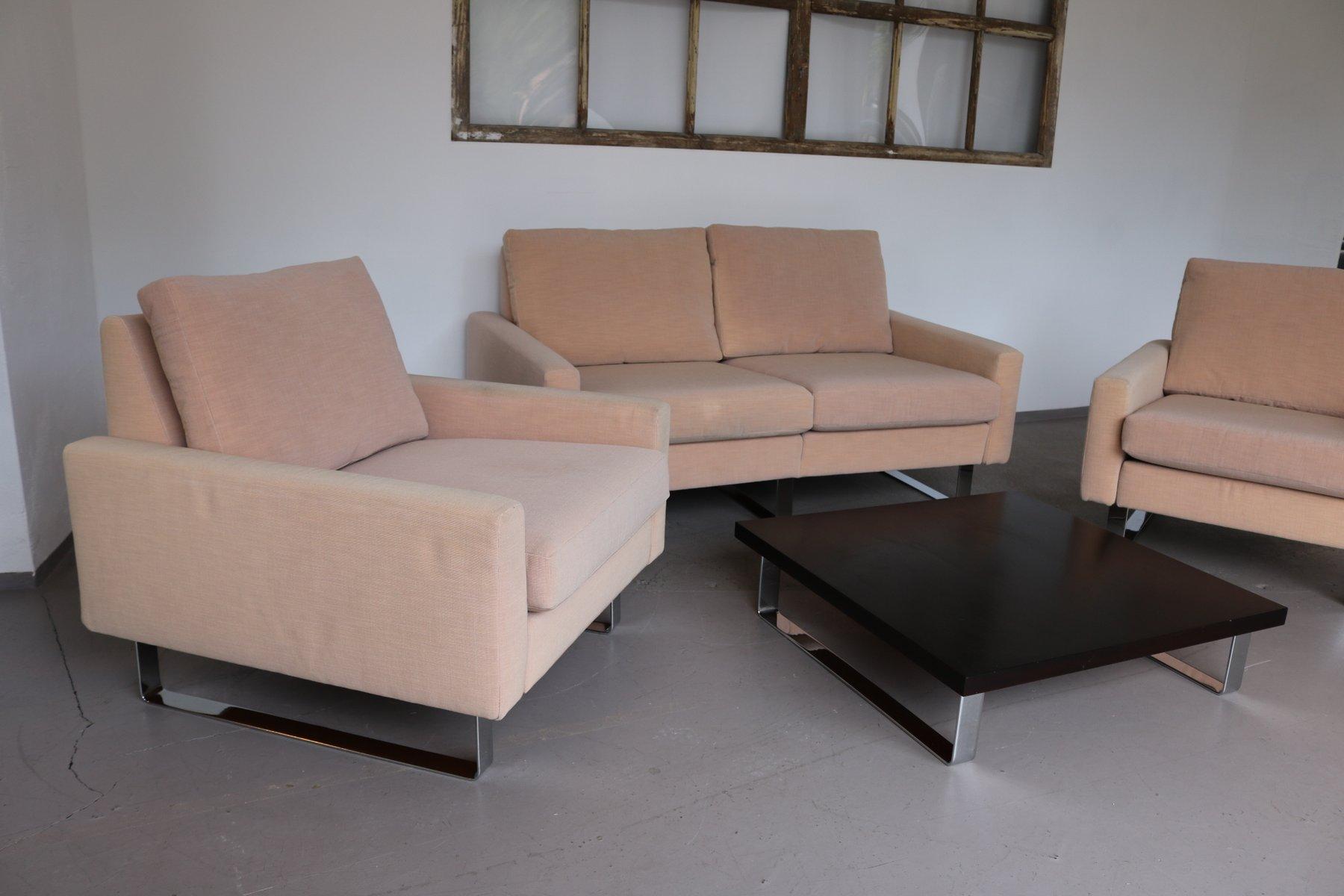 Poltrone divano e tavolino conseta di f w m ller per cor 1960 set di 4 in vendita su pamono - Tavolino per divano ...