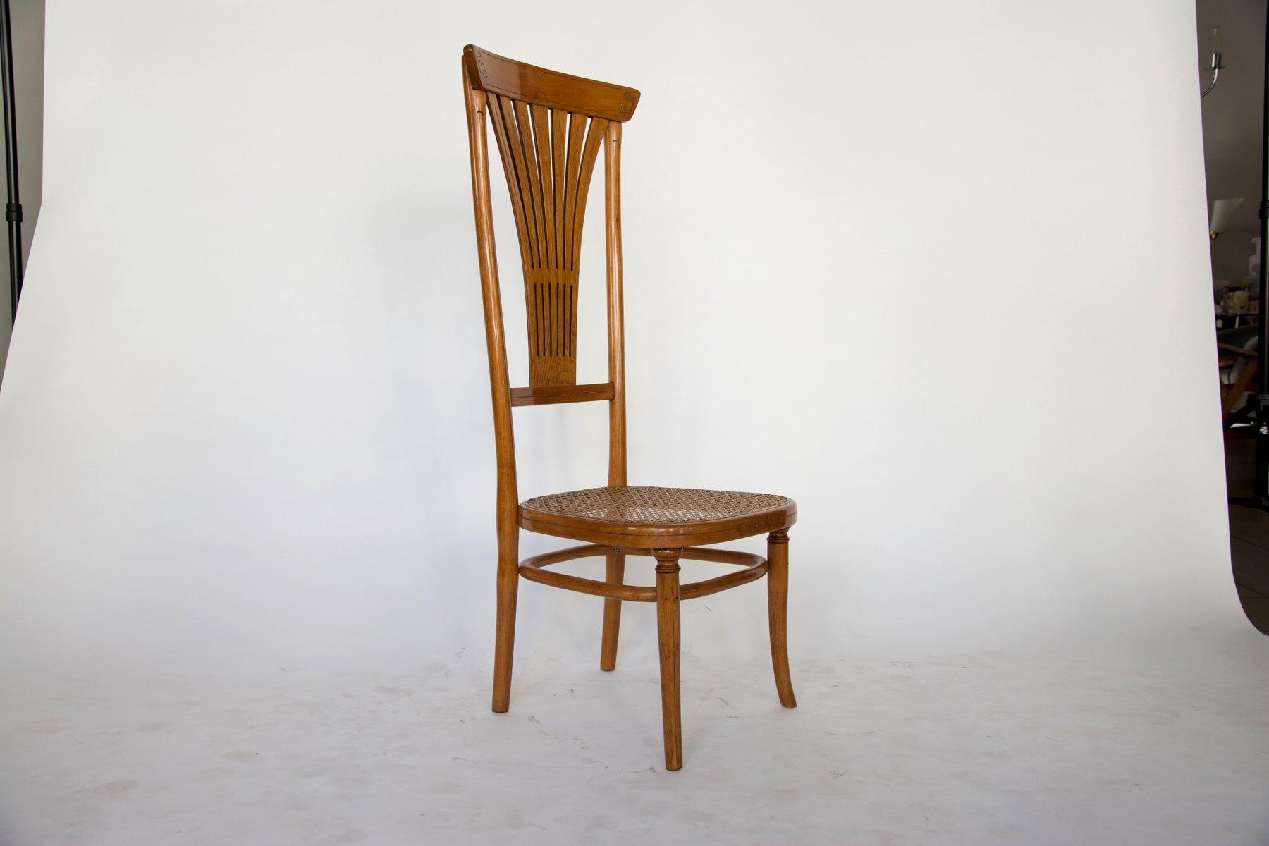 Sedie Schienale Alto Design : Sedia con schienale alto di thonet in vendita su pamono