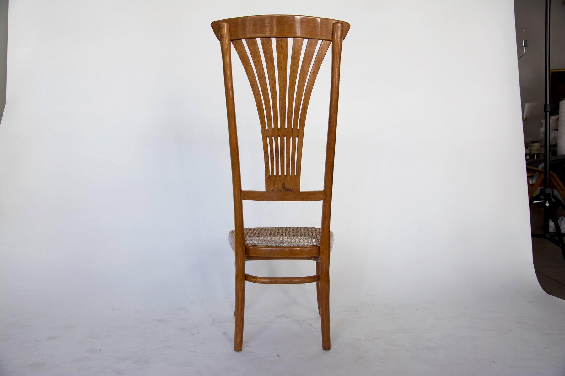 stuhl mit hoher r ckenlehne von thonet 1916 bei pamono kaufen. Black Bedroom Furniture Sets. Home Design Ideas
