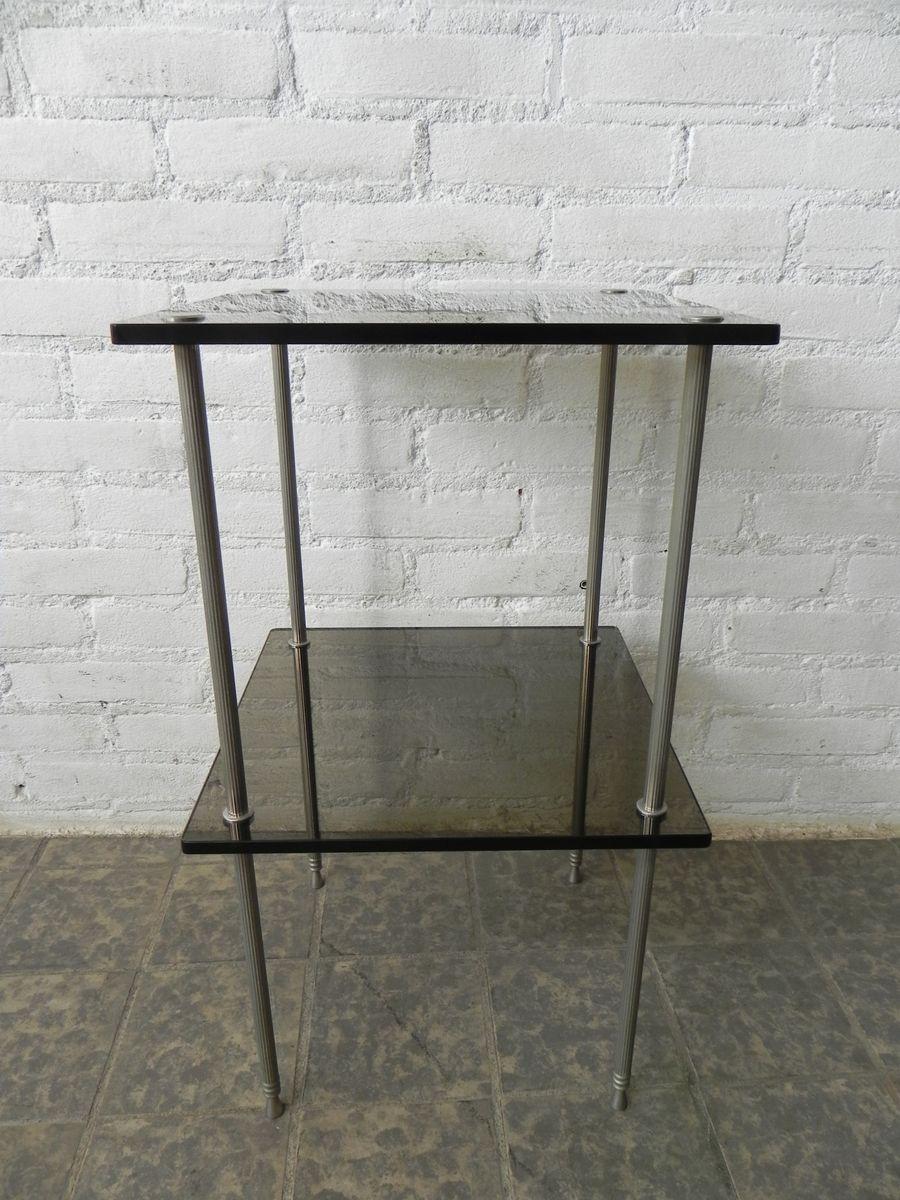 Vintage Beistelltisch mit 2 Glasplatten
